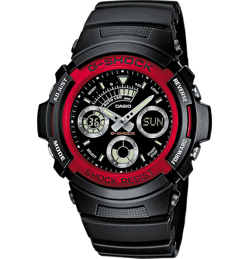 CASIO G-SHOCK Watch - AW-591-4AER red or pink